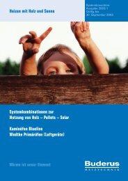 Systemkombinationen zur Nutzung von Holz – Pellets ... - Buderus