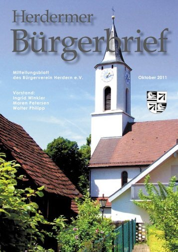 Termine - Bürgerverein Herdern