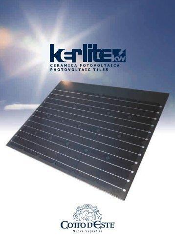 Brochure tecnica informativa KERLITE KW - Infobuildenergia.it