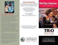 INFORMATION Dr. Ronald E. McNair - California State University ...