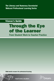 Through the Eye of the Learner - Curriculum Services Canada