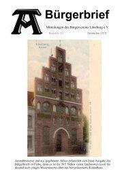 Bürgerbrief Nr. 50 Jubiläumsausgabe ... - Bürgerverein-Lüneburg