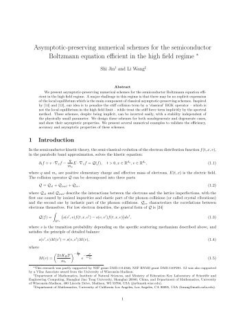 Asymptotic-preserving numerical schemes for the semiconductor ...