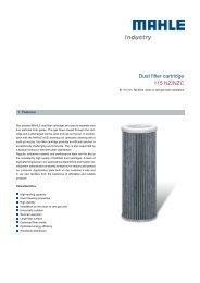 Dust filter cartridge 115 NZ/NZC - MAHLE Industry - Filtration