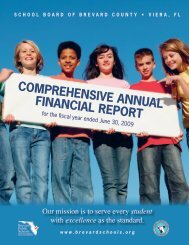 COMPREHENSIVE ANNUAL FINANCIAL REPORT - MyFlorida.com