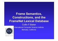 Frame Semantics, Constructions, and the FrameNet Lexical Database