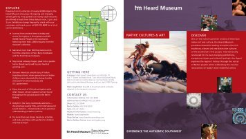 native CULtUres & art - Heard Museum