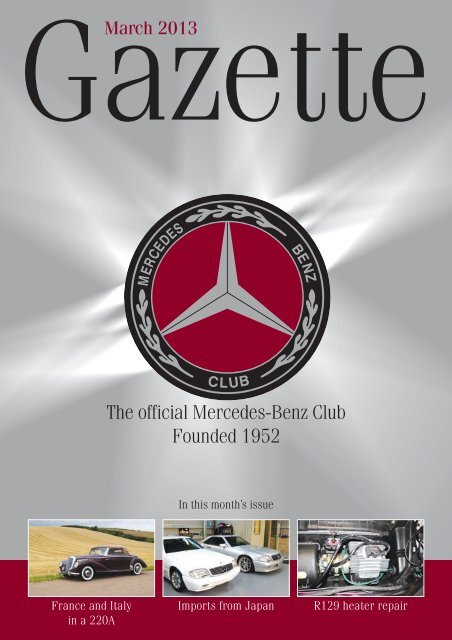 The official Mercedes-Benz Club Founded 1952