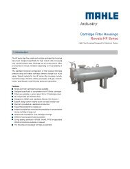 Data sheet HF series - MAHLE Industry - Filtration