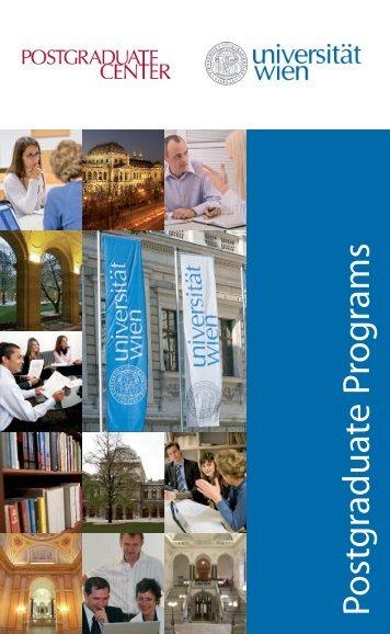 Postgraduate Program s - Postgraduate Center