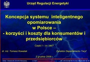 Prezentacja Smart Metering - Urząd Regulacji Energetyki