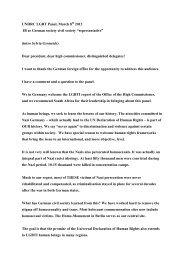 12-03-8 UNHRC LGBT Panel - Hirschfeld-Eddy-Stiftung