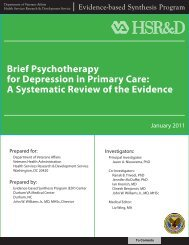 Brief Psychotherapy for Depression in Primary Care - HSR&D - US ...