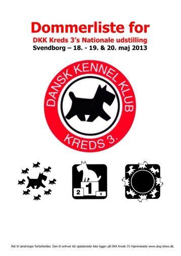 Se dommerlisten her - DKK National udstilling