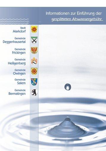 BSK_Broschüre Gesplittete Abwassergebühr - Gemeinde Salem