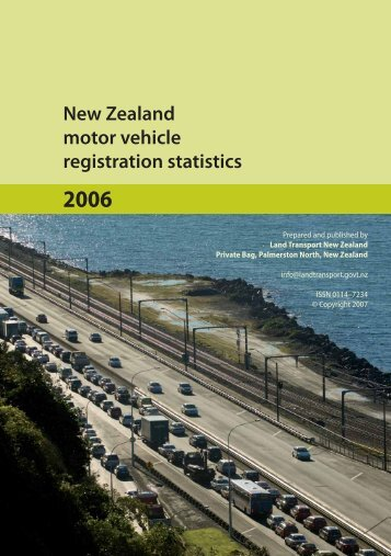 New Zealand motor vehicle registration statistics 2006