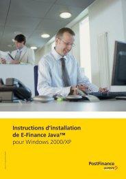 Instructions d'installation de E-Finance Java