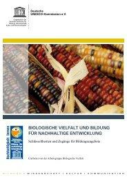 BIOLOGISCHE VIELFALT UND BILDUNG FüR - Schule der Zukunft