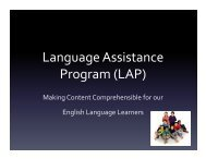 Language Assistance Program (LAP)