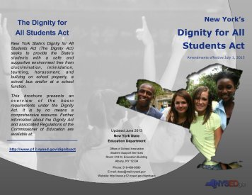 Updated Dignity Act Brochure - p-12 - New York State Education ...