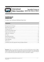 Specialist Group on DIFFUSE POLLUTION - IWA
