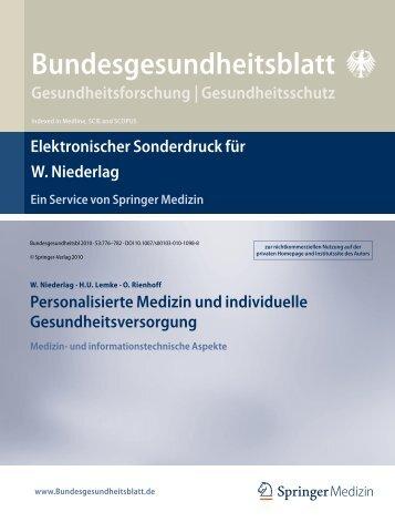 Bundesgesundheitsblatt Gesundheitsforschung | Gesundheitsschutz