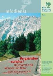 Bergstraßen – autofrei ! - Bund Naturschutz in Bayern eV