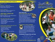Southampton Racquet Club and Camp - Cliff Drysdale Tennis