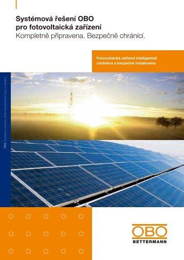 Systémová řešení OBO pro fotovoltaická zařízení - OBO Bettermann