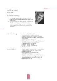 Profil Petra Krämer