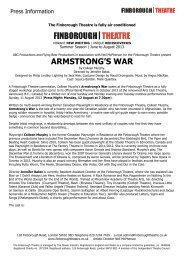 ARMSTRONG'S WAR - Finborough Theatre