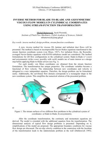 Abstract Template - XX Fluid Mechanics Conference KKMP2012