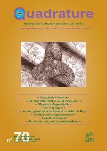 Du calcul différentiel au calcul variationnel - Institut de ...