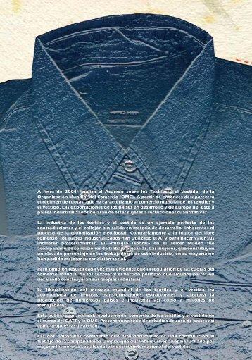 A fines de 2004 finaliza el Acuerdo sobre los Textiles y el Vestido ...