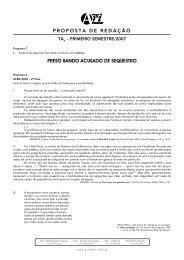 proposta de redação preso bando acusado de seqüestro