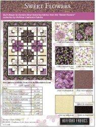 1Sweet Flowers quilt pattern LR
