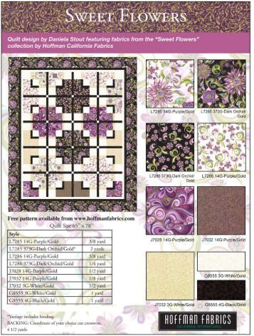 1Sweet Flowers quilt pattern LR