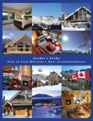 Insider's Guide: How to Find Whistler's Best Accommodations