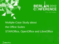 Multiple-Case Study about the Office Suites STAROffice, OpenOffice ...