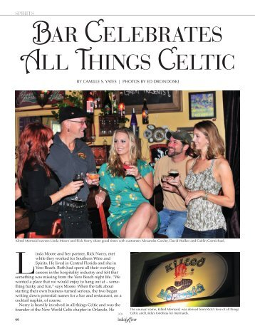BAR CELEBRATES ALL THINGS CELTIC - Indian River Magazine