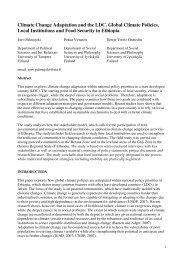 Climate Change Adaptation and the LDC. Global Climate Policies ...