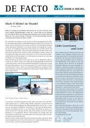 De Facto Ausgabe Nr. 4 - Mark & Michel