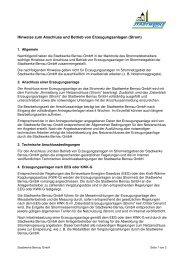 Hinweise zum Anschluss und Betrieb von Erzeugungsanlagen (Strom)