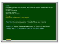 Economic systems in South Africa