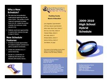 Hybrid Schedule Brochure 2009-2010 – Paulding County School