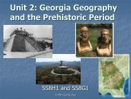 Unit 2 PowerPoint (Part 2 Prehistoric Peoples of Georgia)