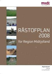 Råstofplan 2008 - Region Midtjylland