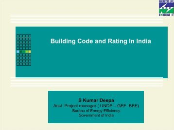 Building Code and Rating In India - rehva