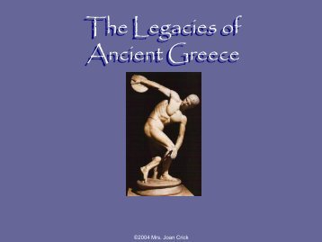 The Legacies of Ancient Greece
