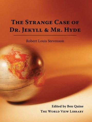 The Strange Case of Dr. Jekyll & Mr. Hyde - Cornerstone Curriculum